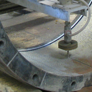 4-axis waterjet cutting