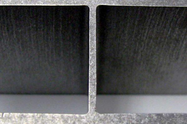 bottom surface of waterjet cut materials